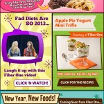 A graphic made for the Hungry Girl weekly newsletter