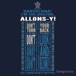 My most popular t-shirt design, a TARDIS made out of Tenth Doctor quotes.